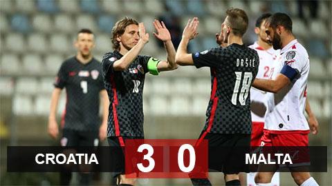 Kết quả Croatia 3-0 Malta: Chiến thắng tốn nhiều mồ hôi