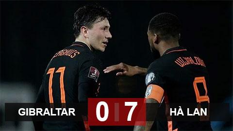Gibraltar 0-7 Hà Lan: Oranje thắng trận thứ 2 liên tiếp
