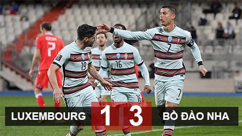 Luxembourg 1-3 Bồ Đào Nha: Ngược dòng thành công