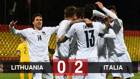 Lithuania 0-2 Italia: Italia toàn thắng ở bảng C