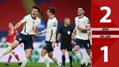 Anh vs Ba Lan: 2-1 (Bảng I vòng loại World Cup 2022)