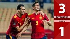Tây Ban Nha vs Kosovo: 3-1 (Bảng B vòng loại World Cup 2022)