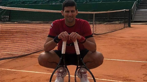 Djokovic ráo riết tập luyện ở Monte Carlo