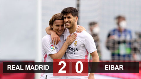 """Real Madrid 2-0 Eibar: Benzema lại """"nổ súng"""", Real vững tin tái ngộ Liverpool"""