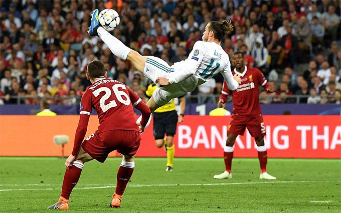 Siêu phẩm móc bóng của Bale trong trận chung kết Champions League 2018