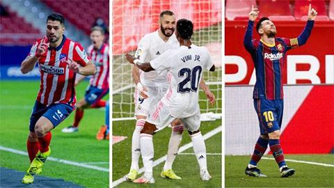 La Liga: Khôn lường đua tam mã Atletico-Barca-Real