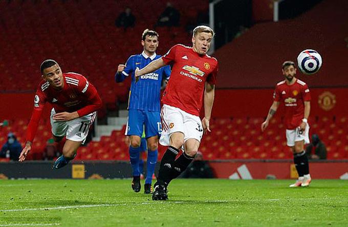 Greenwood ấn định tỷ số 2-1 trận MU vs Brighton ở phút 83