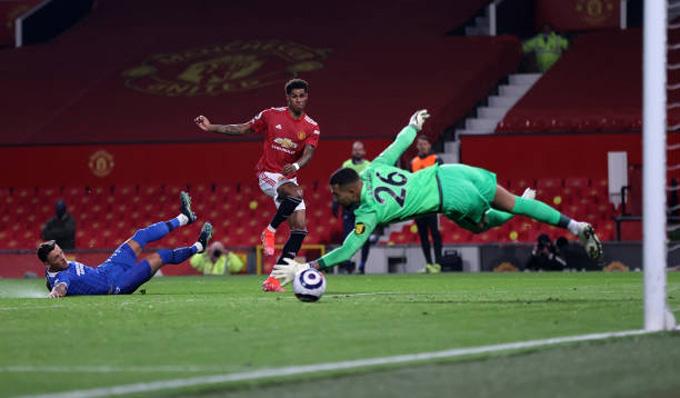 Rashford gỡ hòa 1-1 trận MU vs Brighton ở phút 62