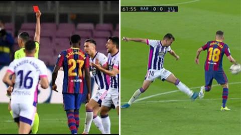 Barca thắng Valladolid nhờ 3 sai lầm của trọng tài?
