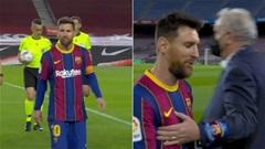 Messi tố trọng tài dọa phạt thẻ vàng ở trận Barca vs Valladolid