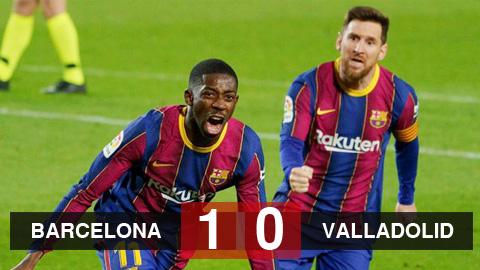 Barcelona 1-0 Real Valladolid: Ghi bàn phút 90, Barca chỉ còn kém Atletico 1 điểm
