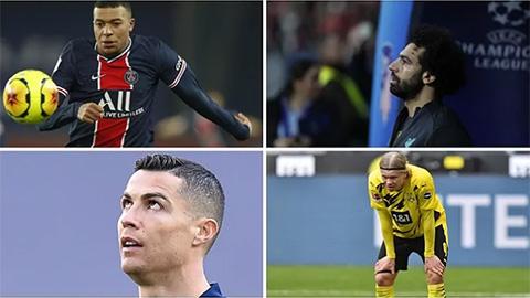 Champions League 2021/22 không Ronaldo, Mbappe, Haaland, Neymar và Liverpool?