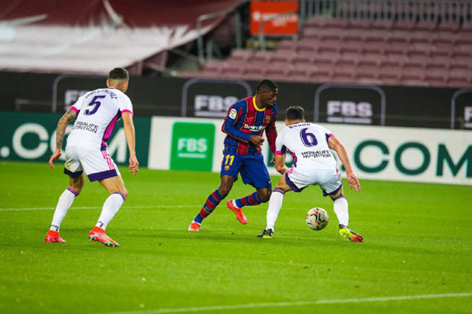 Dembele ghi bàn duy nhất giúp Barca thắng Valladolid
