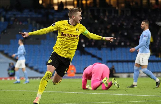 Reus đã giúp Dortmund có được bàn thắng quý giá trên sân khách