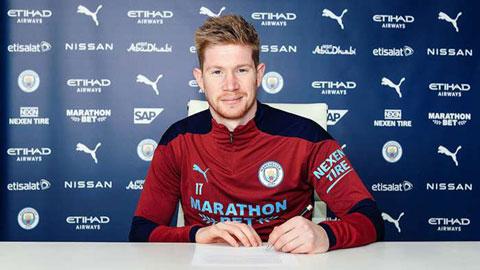 De Bruyne ký hợp đồng mới với Man City đến năm 2025