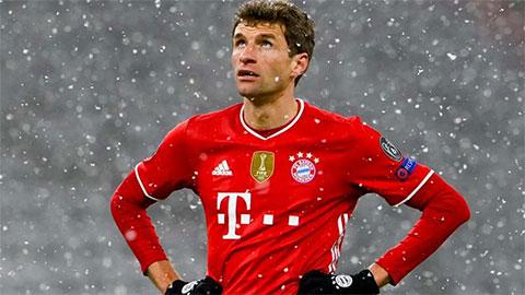 Thomas Mueller chỉ trích hàng công Bayern sau trận thua PSG