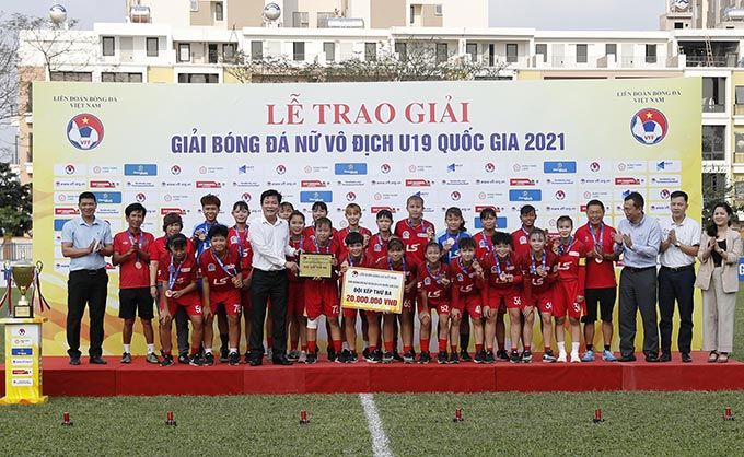 Đội đạt giải Ba: U19 nữ TP Hồ Chí Minh.