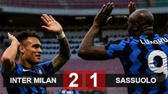 Inter 2-1 Sassuolo: Thẳng tiến tới ngai vàng