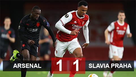 Kết quả Arsenal 1-1 Slavia Praha: Pháo thủ thua đau phút bù giờ