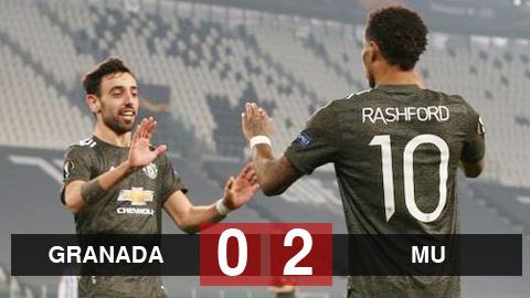 Granada 0-2 MU: Quỷ đỏ đặt 1 chân vào bán kết