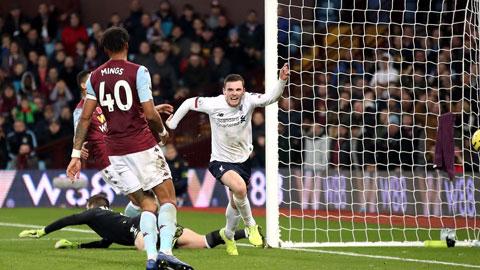 Liverpool (áo trắng) sẽ đánh bại Aston Villa để ngắt mạch 6 trận thua liên tiếp tại Anfield