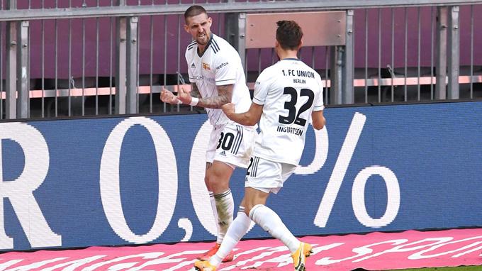Ingvartsen ấn định tỷ số 1-1 trận Bayern vs Union Berlin ở phút 86