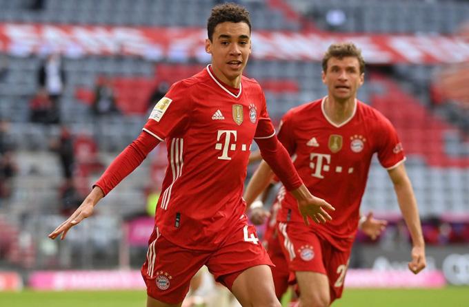 Musiala mở tỷ số trận Bayern vs Union Berlin ở phút 68