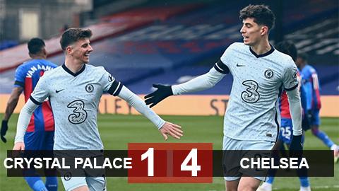Kết quả Crystal Palace 1-4 Chelsea: Havertz và Pulisic đưa The Blues trở lại Top 4