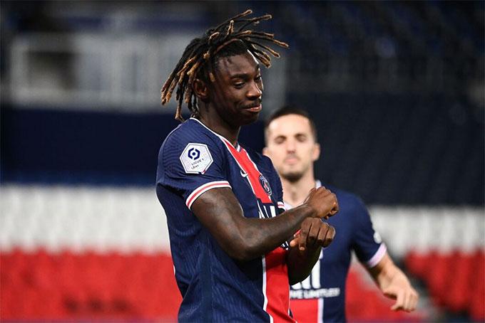 Moise Kean đang chơi bóng ở Pháp cho PSG