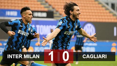 Kết quả Inter 1-0 Cagliari: Nerazzurri tiến thêm một bước tới chức vô địch