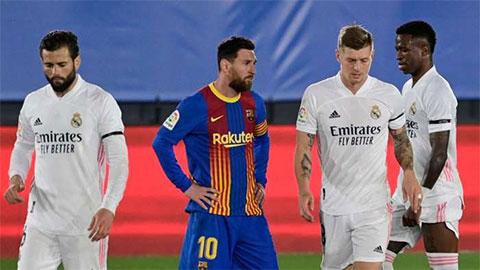Messi trải qua hơn 1.000 ngày không ghi bàn ở El Clasico