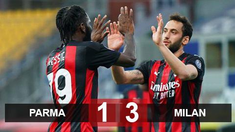 Parma 1-3 Milan: Ibra bị đuổi, Milan vẫn giành trọn 3 điểm