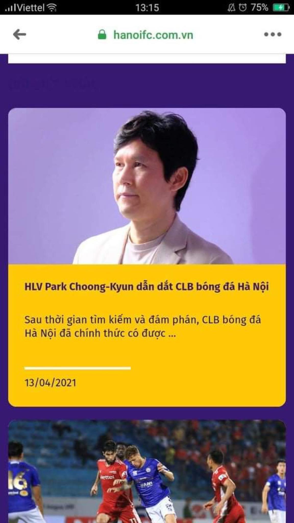 Hà Nội lộ thông tin HLV trưởng người Hàn Quốc