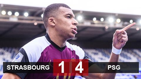 Strasbourg 1-4 PSG: Mbappe lại tỏa sáng ngày vắng Neymar