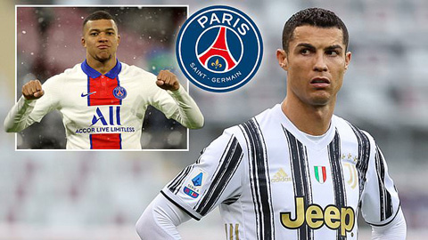 Ronaldo có thể sang PSG nếu Mbappe ra đi