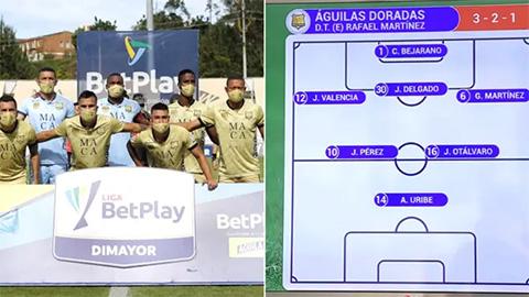 Đội bóng ra sân với sơ đồ 3-2-1, thủ môn đá trung vệ