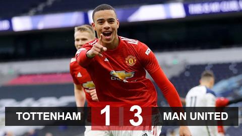 Kết quả Tottenham 1-3 MU: Greenwood giúp Quỷ đỏ ngược dòng ấn tượng