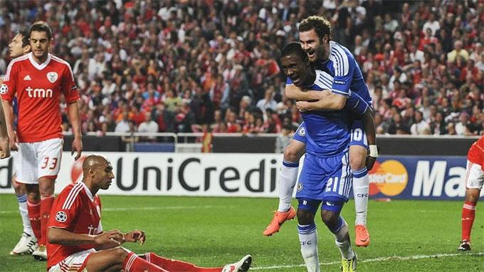 Chelsea từng vượt qua Benfica ở tứ kết Champions League 2011/12