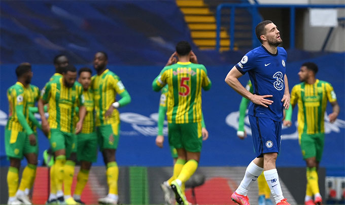 Chelsea mới thua West Brom tới 2-5