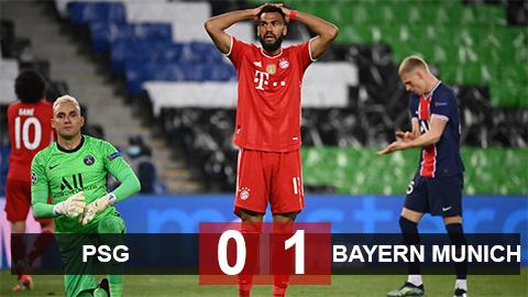 Kết quả PSG 0-1 Bayern: ĐKVĐ dừng chân ở tứ kết