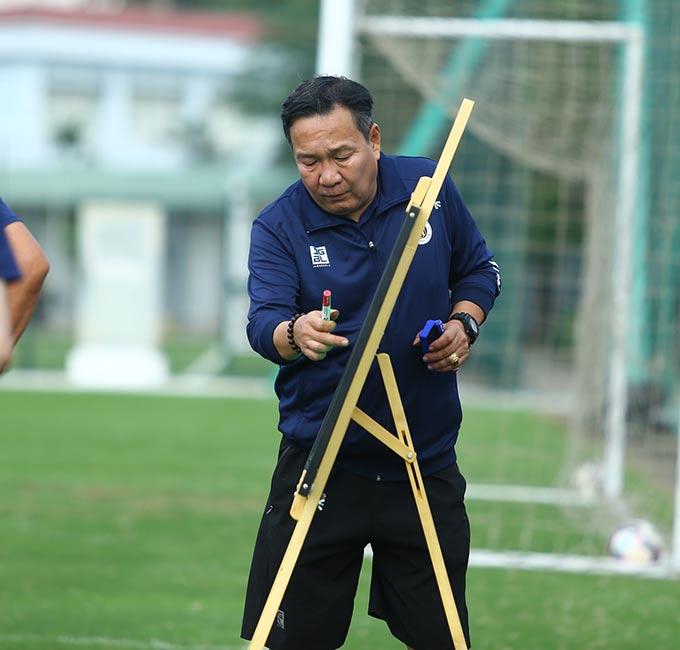 Trước mắt, HLV Hoàng Văn Phúc vẫn sẽ là người chèo lái Hà Nội FC