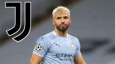 Juventus đề nghị hợp đồng 2 năm với Aguero