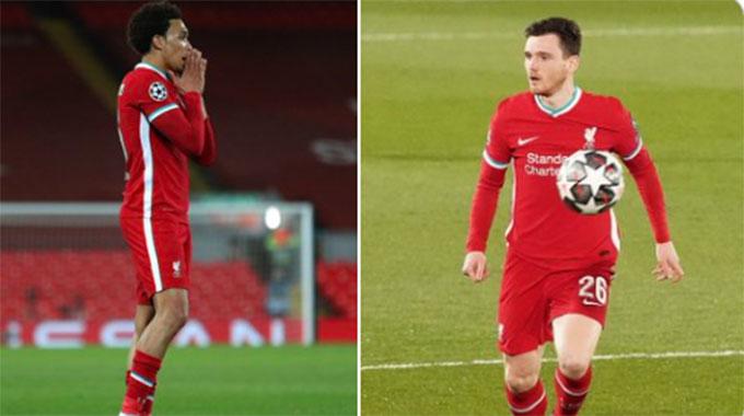 Hai hậu vệ biên của Liverpool đã cùng nhau tạo ra tới 10 cơ hội