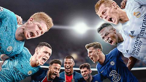 Lịch thi đấu bán kết Champions League: PSG vs Man City, Real vs Chelsea diễn ra ngày nào?