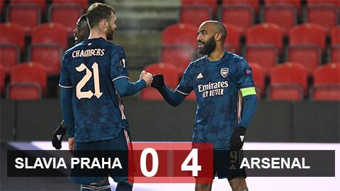Slavia Praha 0-4 Arsenalv (chung cuộc 1-5): Pháo thủ hiên ngang vào bán kết