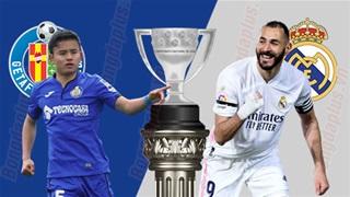 02h00 ngày 19/4: Getafe vs Real Madrid