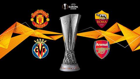 Lịch thi đấu bán kết Europa League: Man United vs Roma, Villarreal vs Arsenal diễn ra ngày nào?
