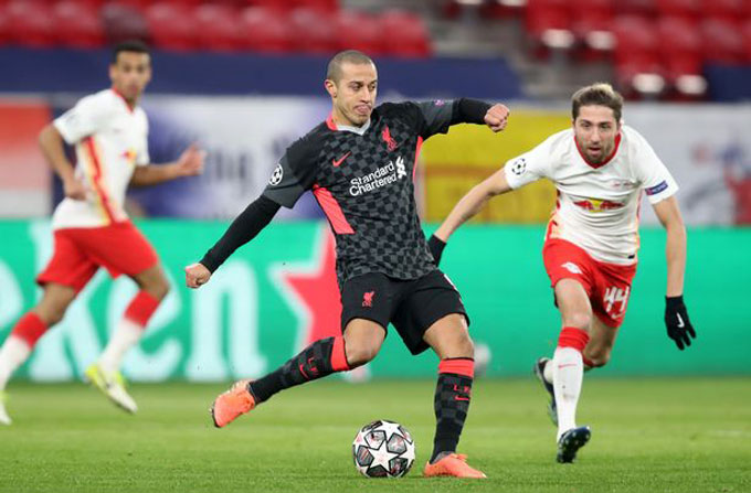 Thiago đã có những trận đấu ấn tượng như trước RB Leipzig