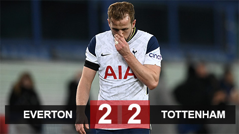 Kết quả Everton 2-2 Tottenham: Ngày thăng hoa của Kane & Sigurdsson