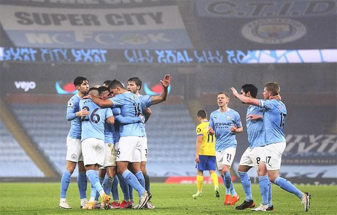 Man City đang thể hiện sức mạnh vô cùng đáng sợ